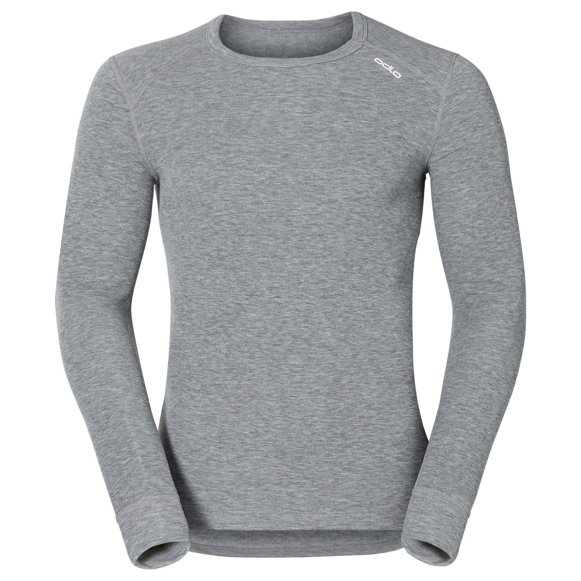 Термофутболка Odlo L/S Crew Neck Warm (152022 Grey Melange L)
