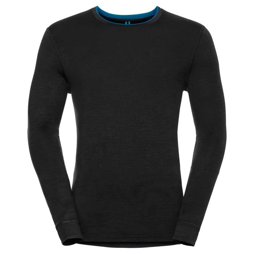 Термофутболка Odlo L/S Crew Neck Natural 100% Merino Warm Black XL (110412)