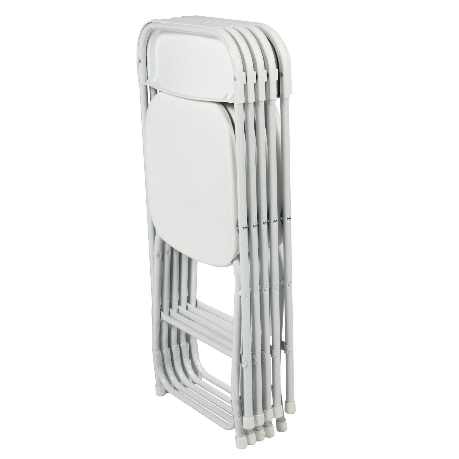 Стул складной для дома, конференций, пикника CarryOn Etna белый (4 штуки)
