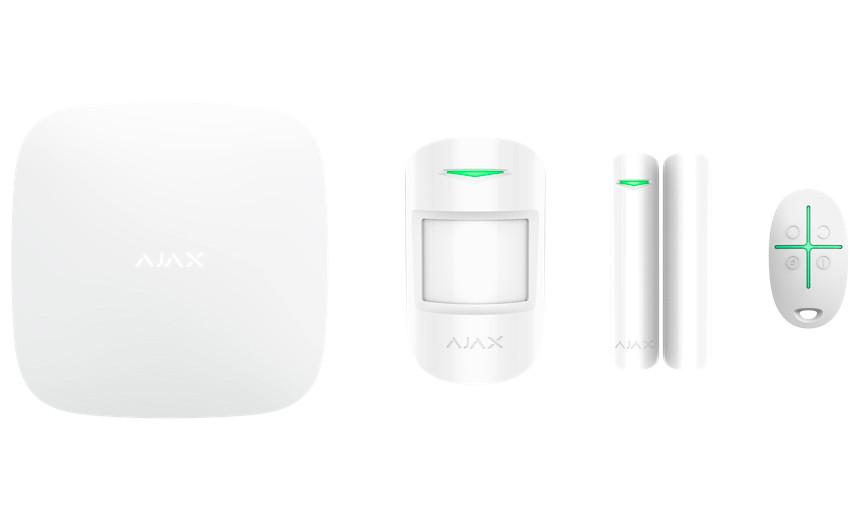 Стартовый комплект Ajax StarterKit (Hub,MotionProtect, DoorProtect, SpaceControl) Белый