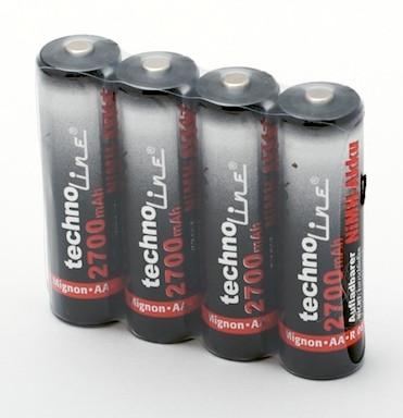 Аккумуляторы пальчиковые Technoline AA 2700mAh 4шт