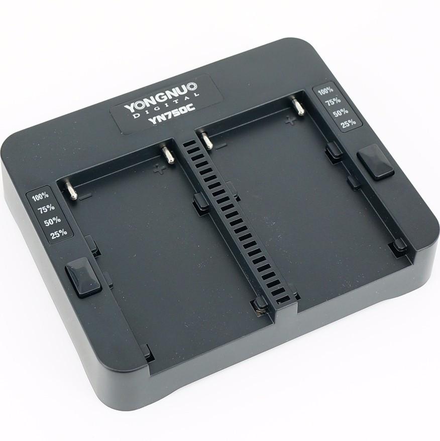 Зарядное устройство Yongnuo YN750C для двух батарей Sony NP-F750/NP-F970 с быстрым режимом