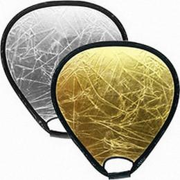 Отражатель 2в1 треугольный Mircopro TR-051 серебро,золото 80 см