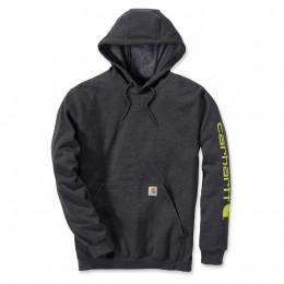 Худи Carhartt Sleeve Logo Hooded Sweatshirt K288 (Carbon Heather)