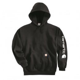 Худи Carhartt Sleeve Logo Hooded Sweatshirt K288 (Dark Brown)