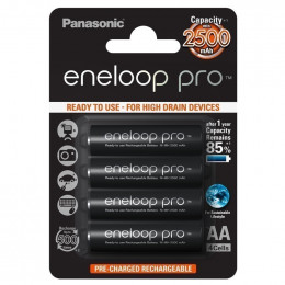 Аккумуляторы с низким саморозрядом Panasonic Eneloop Pro AA 2500 mAh 4шт