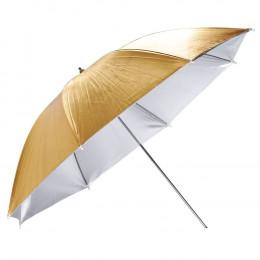 Зонт на отражение Mircopro UB-005G золото,серебро 100 см