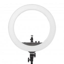 Набор света для фото-видео контента Mircopro RL-18BII 9 предметов от аккумуляторов и 220v