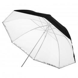 Зонт на отражение и просвет Mircopro UB-007 100 см (черный,серебристый,полупрозрачный)