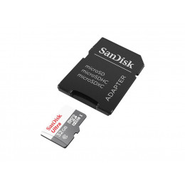 Карта памяти Sandisk 32GB microSDHC C10 UHS-I R48MB/s Ultra + SD Adapter