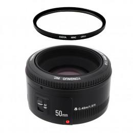 Объектив Yongnuo 50mm f/1.8 Canon + защитный фильтр Hoya UV(C)