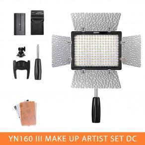 Набор света YN-160III Make Up Artist Set DC (YN-160III, аккумулятор, зарядное устройство)