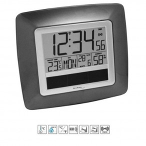 Настенные часы Technoline WS8112 brown metallic - silver