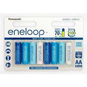 Аккумуляторы с низким саморозрядом Panasonic Eneloop AA 1900 8HH mAh NI-MH Ocean Colors