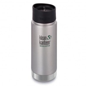 Термокружка Klean Kanteen Wide Vacuum Insulated Cafe Cap 473мл Brushed Stainless