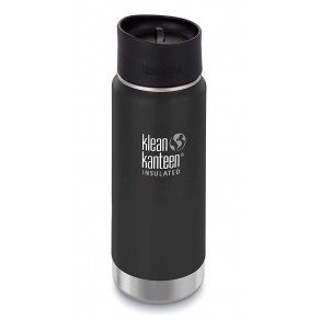 Термокружка Klean Kanteen Wide Vacuum Insulated Cafe Cap 473мл Shale Black (matt)