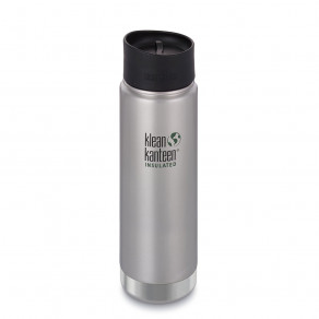 Термокружка Klean Kanteen Wide Vacuum Insulated Cafe Cap 592мл Brushed Stainless