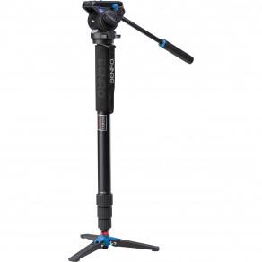 Монопод алюминиевый Benro 48TDS4 с ножками и видео головой S4