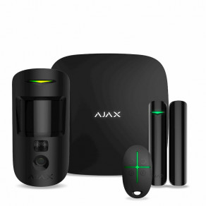 Стартовый комплект Ajax StarterKit Cam (Hub2, MotionCam, DoorProtect, SpaceControl) Черный