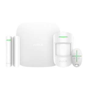 Стартовый комплект Ajax StarterKit Plus (HubPlus, MotionProtect, DoorProtect, SpaceControl) Белый