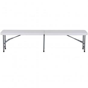 Скамья складная для дома, конференций, пикника CarryOn Etna 1.8 м белая