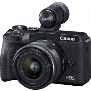 Фотоаппарат Canon EOS M6 Mark II Black Kit 15-45 IS STM + EVF
