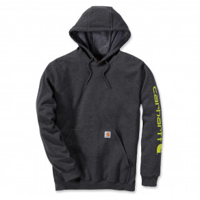 Худи Carhartt Sleeve Logo Hooded Sweatshirt K288 (Carbon Heather)