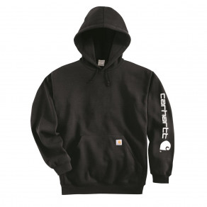 Худи Carhartt Sleeve Logo Hooded Sweatshirt K288 (Dark Brown)