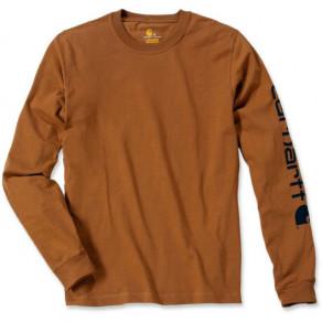 Футболка с длинным рукавом Carhartt Sleve Logo T-Shirt (EK231)
