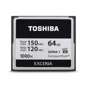 Карта памяти CF x1000 Toshiba 64Gb 150/120Mb/s (CF-64GTGI(8))