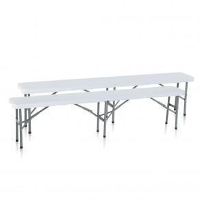 Скамья складная для дома, конференций, пикника CarryOn Etna 1.8 м белая (2 штуки)