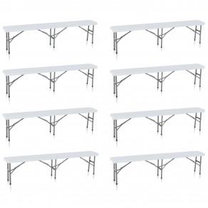Скамья складная для дома, конференций, пикника CarryOn Etna 1.8 м белая (8 штук)