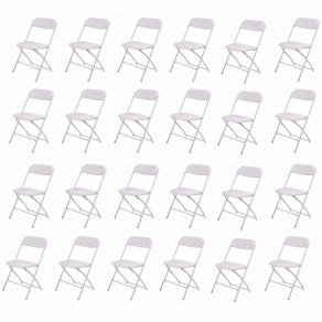 Стул складной для дома, конференций, пикника CarryOn Etna белый (24 штуки)