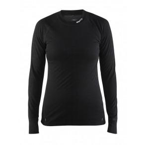 Термофутболка Craft Nordic Wool CN Woman Black/Dark Grey Melange M