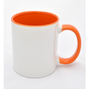 Чашка (цветная внутри+ободок) Orange