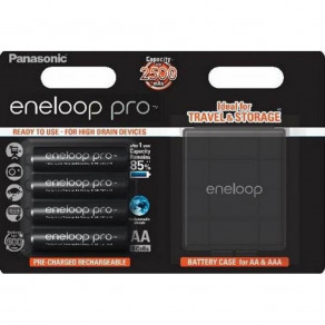 Аккумуляторы с низким саморозрядом Panasonic Eneloop Pro AA 2500 mAh 4шт с кейсом