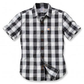 Рубашка с коротким рукавом Carhartt Slim Fit Plaid Shirt S/S - 102548 (Black)