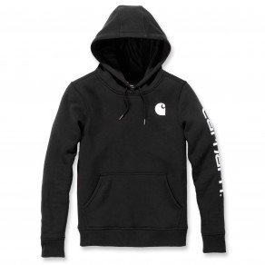 Худи женское Carhartt Clarksburg Pullover Sweatshirt - 102791 (Black)