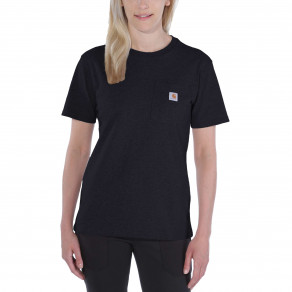 Футболка женская Carhartt WK87 Workwear Pocket T-Shirt - 103067 (Black)
