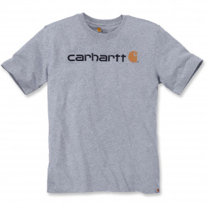 Футболка Carhartt Core Logo T-Shirt S/S 103361 (Heather Grey)