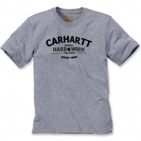 Футболка Carhartt Graphic Hard Work T-Shirt S/S 103406 (Heather Grey)