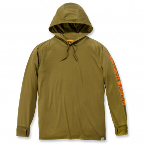 Худи Carhartt Fishing Hooded T-Shirt L/S - 103572 (Military Olive)