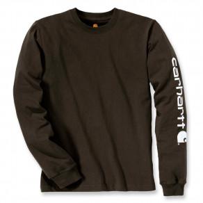 Футболка с длинным рукавом Carhartt Sleeve Logo T-Shirt L/S - EK231 (Peat)