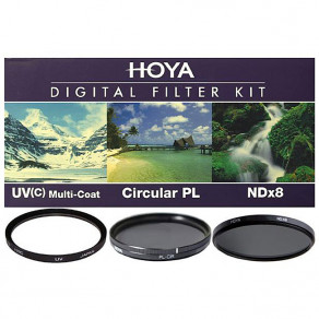 Набор фильтров (UV, Pol, NDx8) Hoya Digital Filter Kit 77 мм