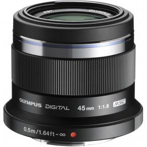 Объектив Olympus M.Zuiko Digital 45mm f/1.8 Black (ET-M4518)