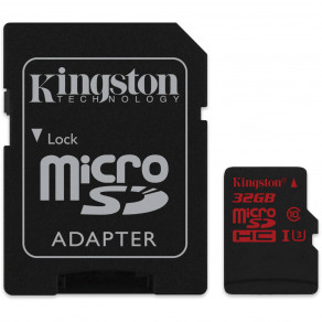 Карта памяти Kingston micro SDHC 32Gb UHS-I U3 (SDCA3/32GB) + SD адаптер
