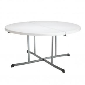Складной круглый стол-книжка LIFETIME 25402 (152 x 76 см) Белый/Серый