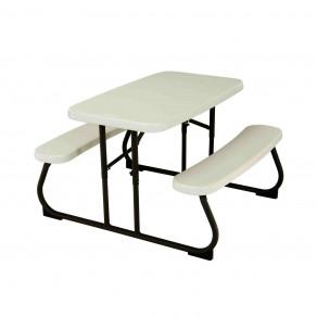 Набор складной детской мебели LIFETIME 280094 Белый/Серый (стол+2 скамьи)