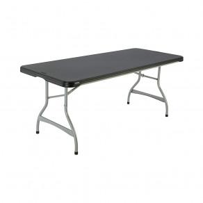 Складной стол LIFETIME 80350 (183 x 76 x 74 см) Черный/Серебристый