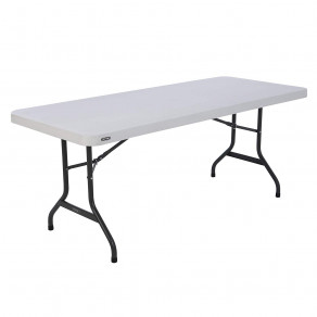 Складной стол LIFETIME 80367 (183 x 76 x 74 см) Белый/Серый